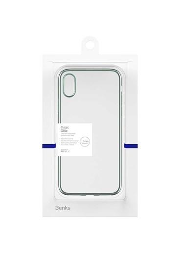 Benks Apple iPhone X Magic Glitz Ultra-Thin Transparent Protective Soft Case Yeşil